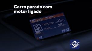 Qual o consumo de gasolina com o carro parado