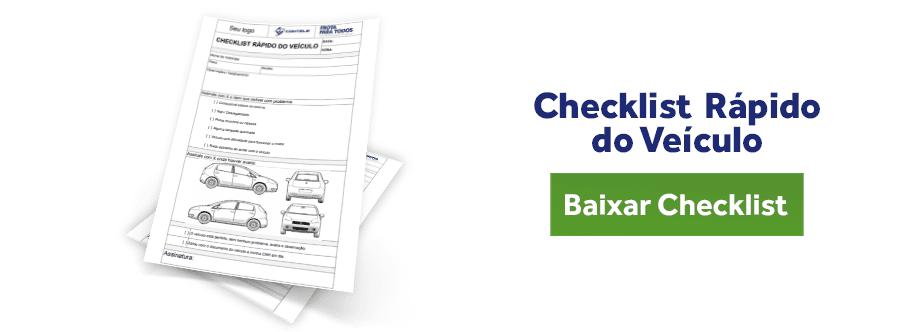 Checklist Rápido do Veículo: Use no dia a dia para reduzir gastos de manutenção