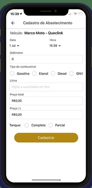Aplicativo para Registro de Abastecimentos